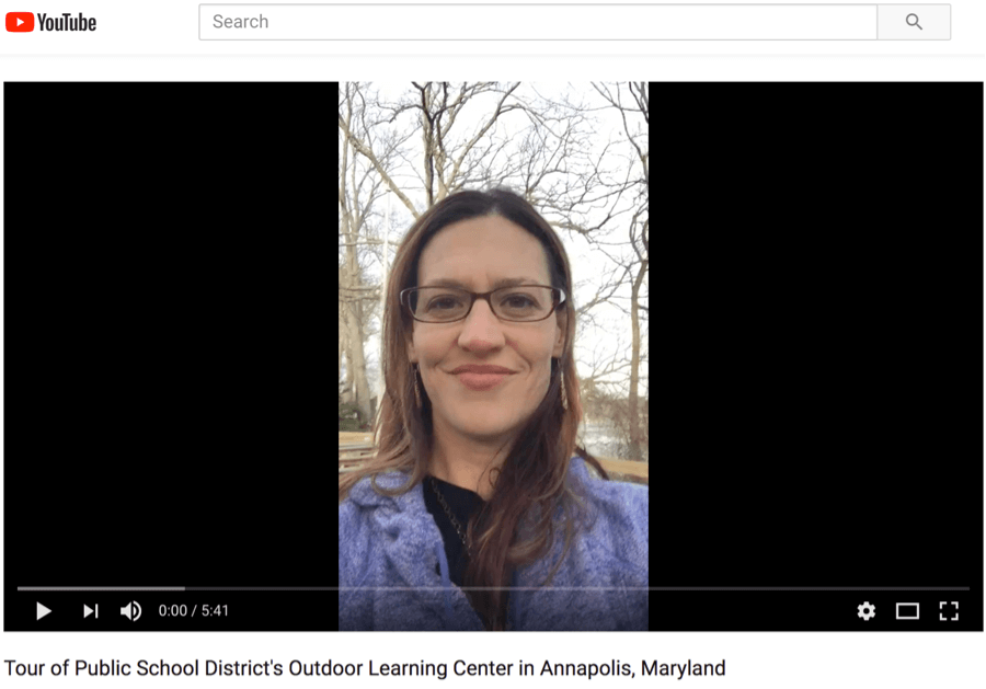 Video tour of a School District's Outdoor Education Center