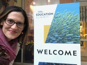 Melanie at the Nathional Geographic Educational Summit